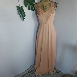 Forever 21 Blush Peach Sequined Dress Gown